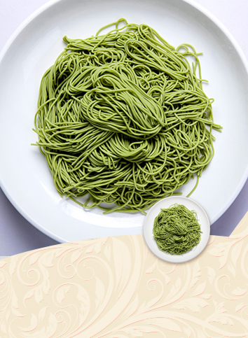 【Spinach noodles】