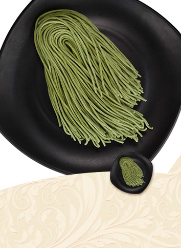 【Semi-dry noodles - spinach noodles】