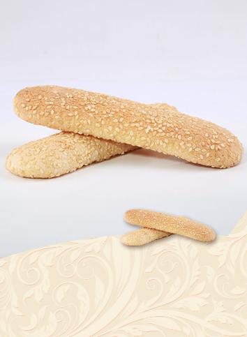 【Long soft cake - sesame seeds】